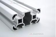 Алюминиевый конструкционный профиль сечением 40х80 без покрытия