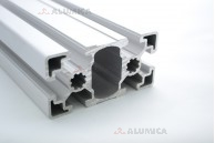 Алюминиевый конструкционный профиль сечением 45х90 анодированный